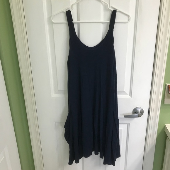 Alya Dresses & Skirts - Navy blue tank top dress with pockets size M